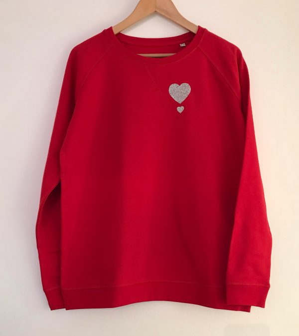 My One Heart Red Christmas Jumper